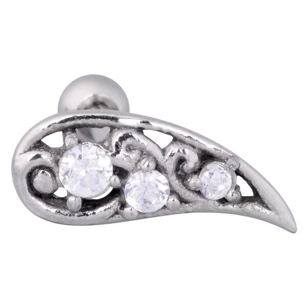 Steel Basicline® Upper Ear Barbell Flower