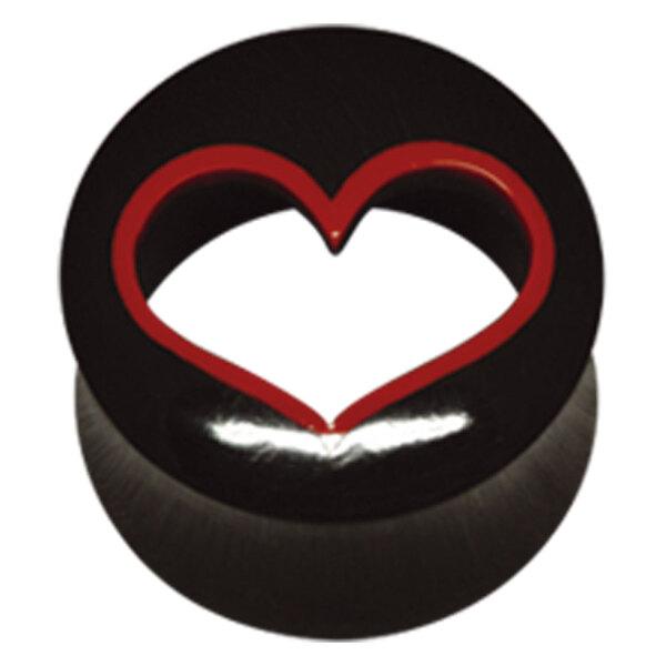 Buffalo Horn Cut-Out Heart Plug
