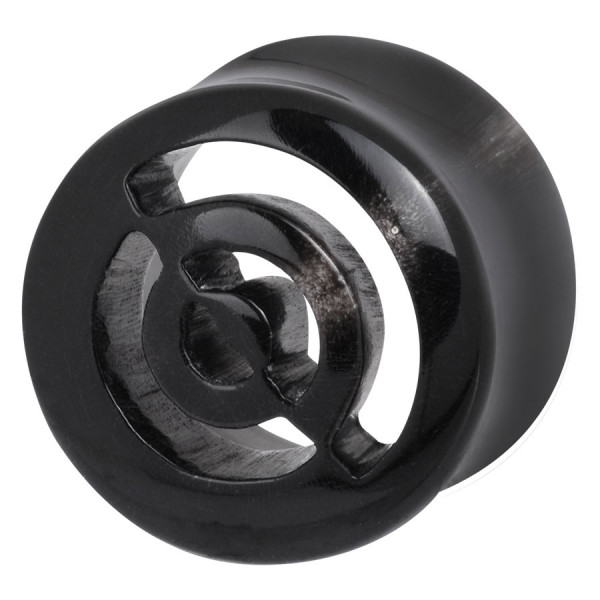 Buffalo Horn Cut Out Circle Plug