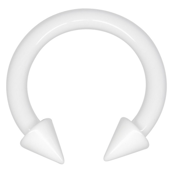 Acrylic White Heat Spiked Megacuff
