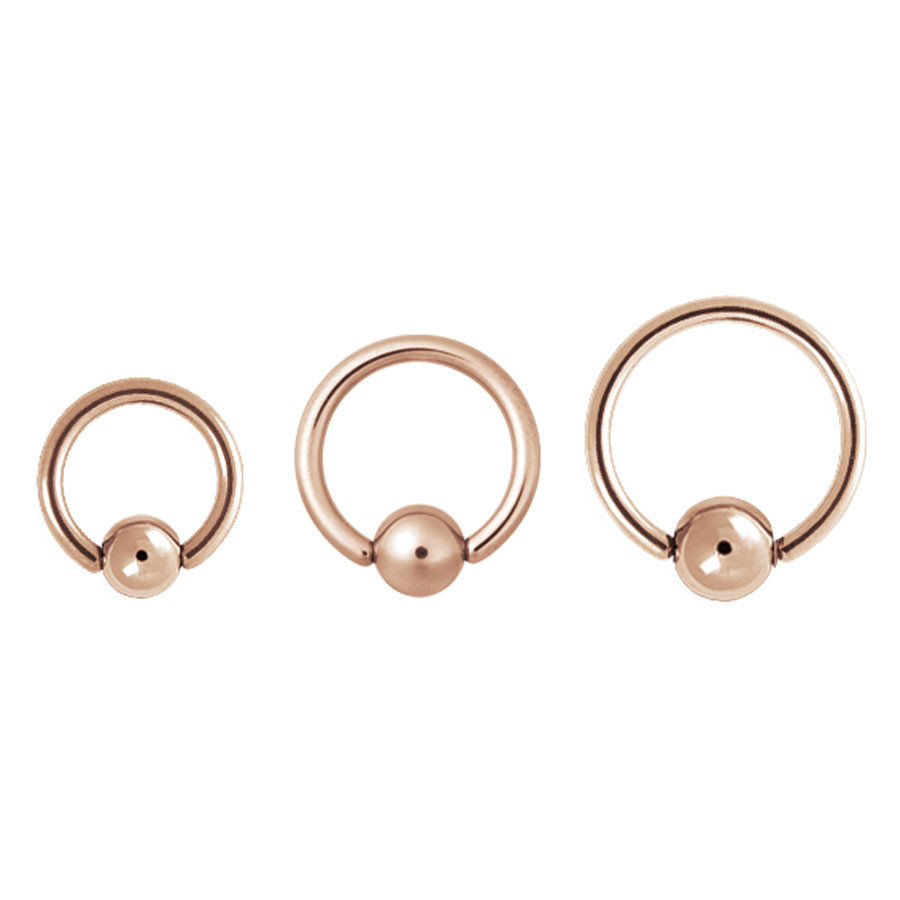 Steel Roseline - Basic Ball Closure Ring