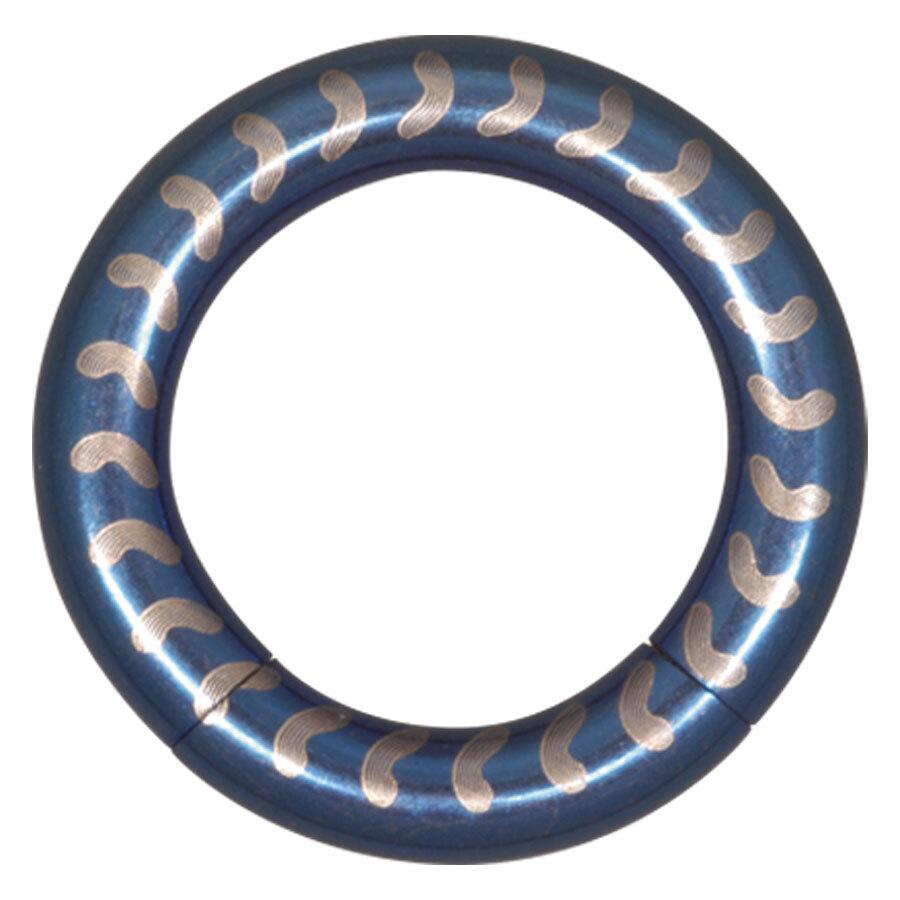 Steel Basicline® Elektra Blue Smooth Segment Ring Vertebra