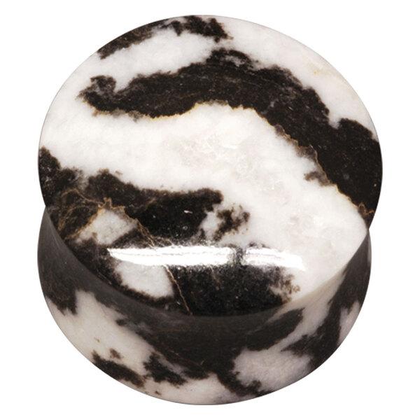 Organic Zebra Marble Plug