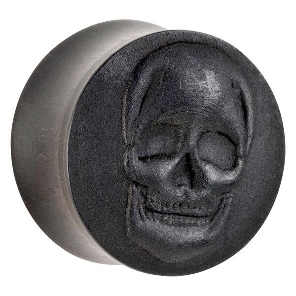 Organic® Skull on Ebony Wood