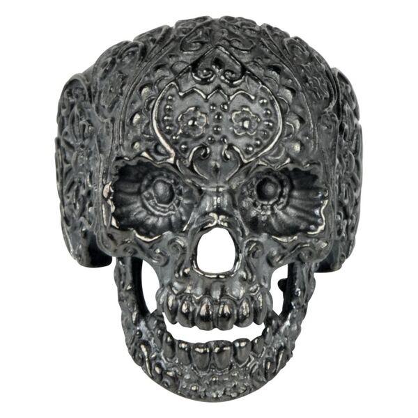 Tattooed Skull Ring