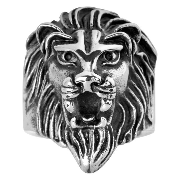 Steel Basicline® Lion Ring