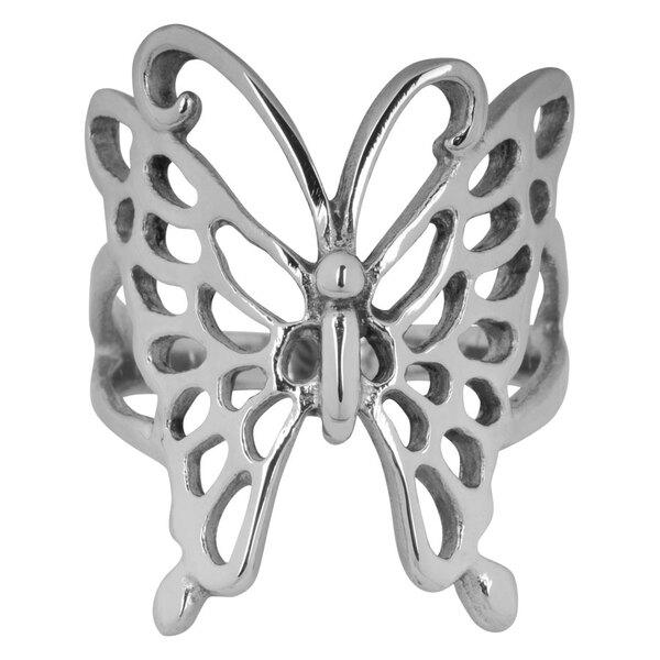 Steel Basicline® Butterfly Ring