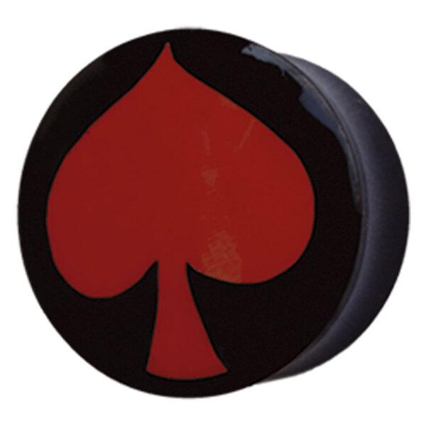 Buffalo Horn Red Spade Plug