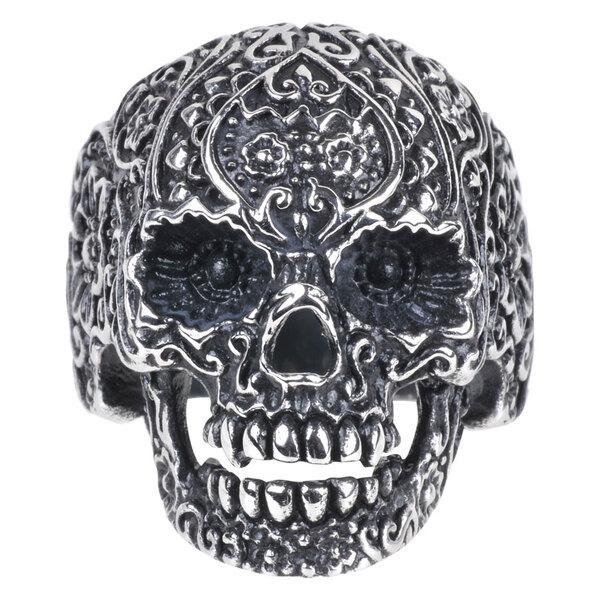 Steel Basicline® Skull Tattoo Ring
