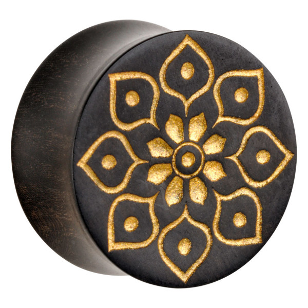 Organic® Golden Florescence on Black Wood