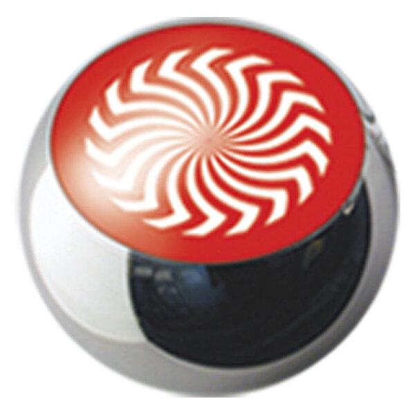 Steel Basicline® Ikon Clip in Ball Red Rotator on White