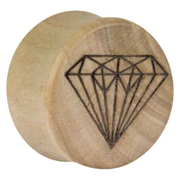 Earganic® - Diamond on Crocodile