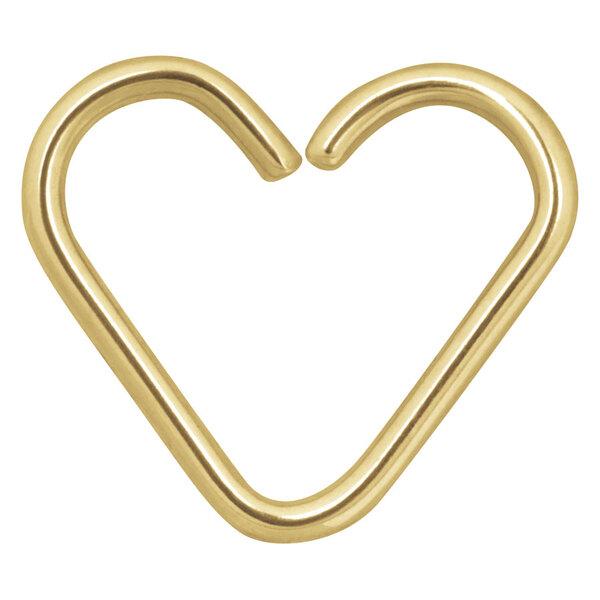 Steel Zirconline® Continuous Ring Heart