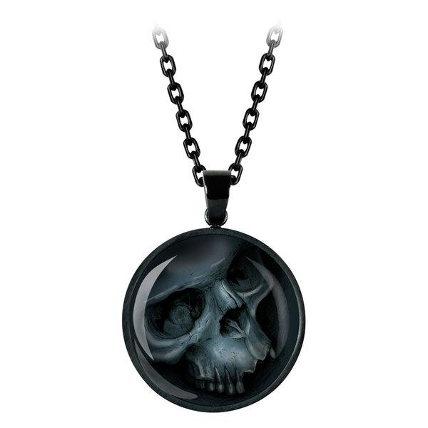 Grey Skull Necklace